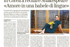 Martina Korea Italian newspaper